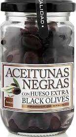 Black olives with no extra brine, Ismael, 180g