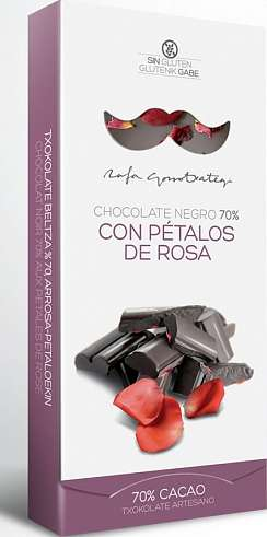 Bitter chocolate with roses 70%, Rafa Gorrotxategi, 100g